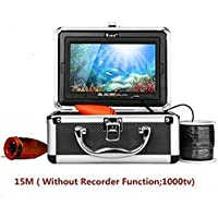 Eyoyo 7 Color LCD HD 640480 Pixels HD 1000tvl Lens Waterproof 30m Cable Rechargeable Battery Fish Finder Underwater Fishing Camera with Carry Case Metal Heavier Lens