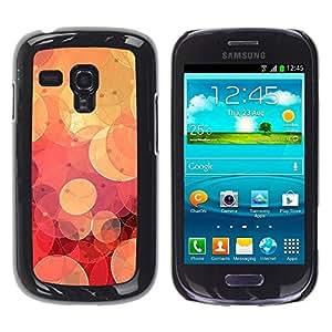 Be Good Phone Accessory // Dura Cáscara cubierta Protectora Caso Carcasa Funda de Protección para Samsung Galaxy S3 MINI NOT REGULAR! I8190 I8190N // Retro Red Bokeh
