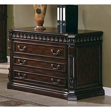 Coaster Home Furnishings Tucker Modern Traditional Two Drawer Lateral File  Cabinet   Rich Brown