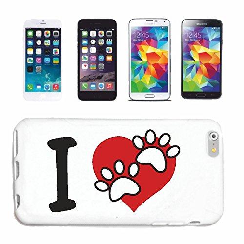 """cas de téléphone iPhone 6+ Plus """"J'AIME LES ANIMAUX J'AIME Animaux ANIMAUX SAUVAGES BESOIN CHIENS CHATS PIG"""" Hard Case Cover Téléphone Covers Smart Cover pour Apple iPhone en blanc"""