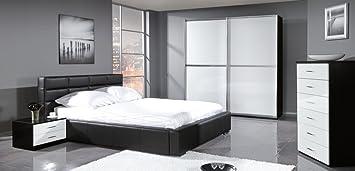 design luxus schlafzimmer set stilmöbel edelholz komplett weiß ... - Schlafzimmer Komplett Schwarz Weiss