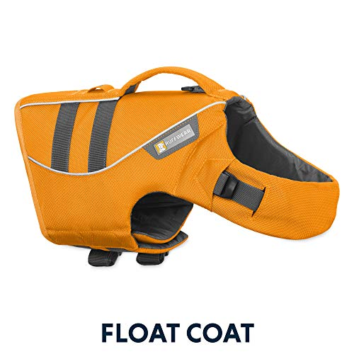 RUFFWEAR - Float Coat Dog Life Jacket for Swimming, Adjustable and Reflective, Wave Orange, Medium (Best Harness For Deep Chested Dogs)