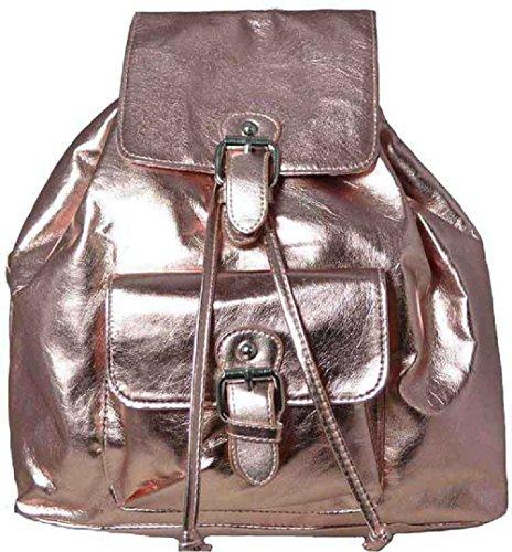 Handbag Gold Silver Rose Metallic Backpack Gold Bag Rose Shoulder Rucksack XPqwx6FZ