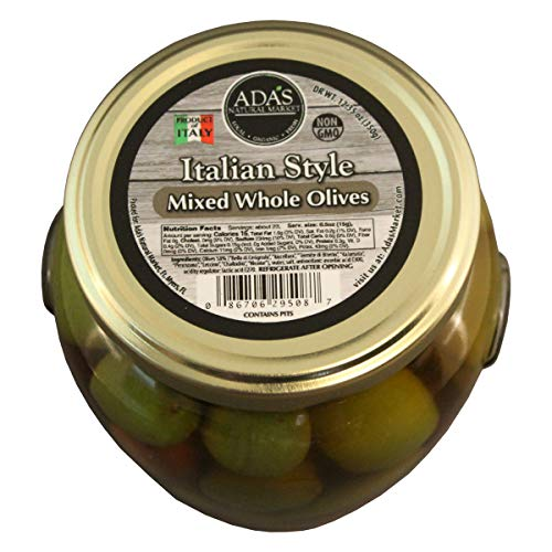 ADA'S Natural Market Whole Italian Mixed Olives - 19.4 OZ