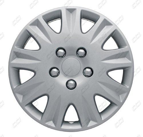 CCI IWCB8111-15S 15 Inch Clip On Silver Finish Hubcaps - Pack of 4