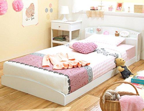 白いベッド フロアベッド フレームのみ シングルベット B01BXMLW2S Parent