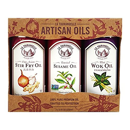 La Tourangelle Asian Flavors Trio with Pan Asian, Thai Wok, Sesame, 3 Count