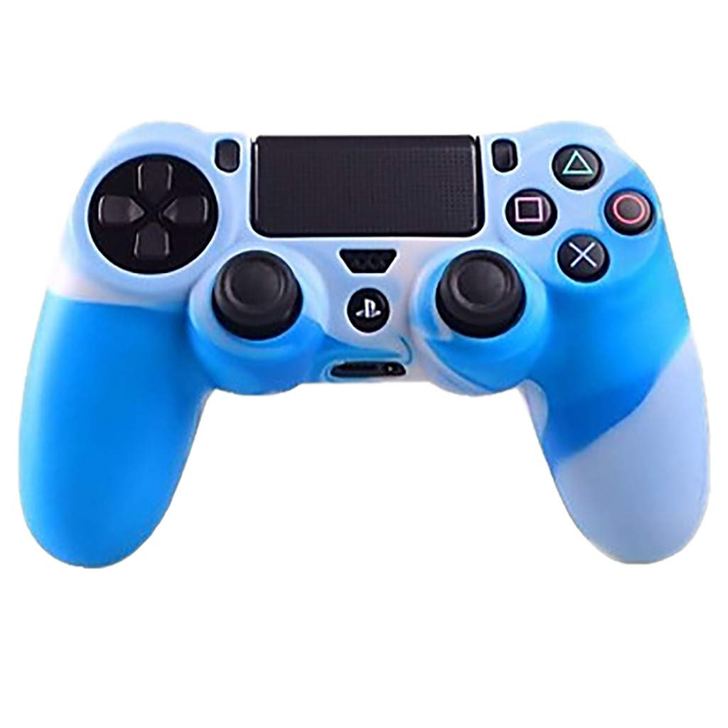 HighlifeS PS4 Controller DualShock 4 Skin Silicone Rubber Case Skin Grip Cover Fashion Cool for Playstation 4 PS4 Controller (H)