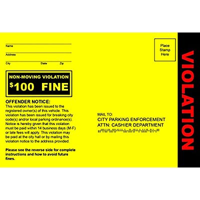 Patriot Web Design Fake Parking Tickets - Pack of 100: Toys & Games