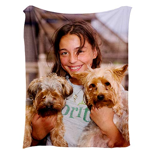 NIWAHO-THROWS MADE Custom Print Fleece Blankets for Kids with Pictures or Words,45x50 inches ()