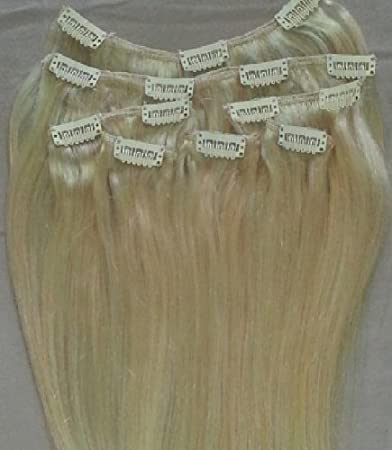 Amazon 24 100 remy human hair extensions 7pcs clip in 613 24quot 100 remy human hair extensions 7pcs clip in 613 platinum blonde pmusecretfo Image collections