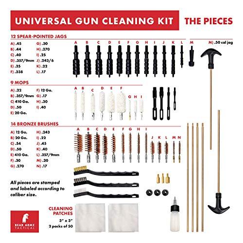 Bear Armz Tactical Gun Cleaning Kit I Gun Cleaning Kit for