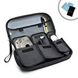 Instant Film / Photo Camera Case with Room for Cables , Chargers , Film and Other Camera Accessories by USA Gear - Works w/ Fujifilm Instax Mini 7S , Polaroid Z2300 , Lomography Lomo'Instant and More