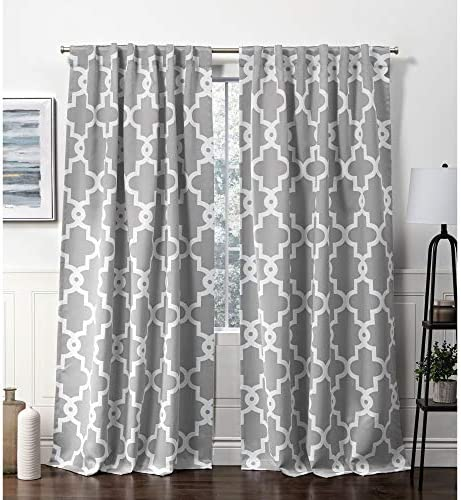 Exclusive Home Curtains Ironwork Hidden Tab Top Curtain Panel