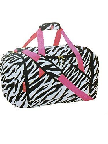 Fashion Duffel 21-inch Zebra Design, 21in W x 11in D x 12in H