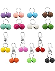 28 Pack Pets Cat Collar Bells,Sonku Strongest & Loudest Dog Collar Bells for Potty Training, Colourful Cat&Dog Charm Bells for Collars Necklace Pendant -14 Pairs