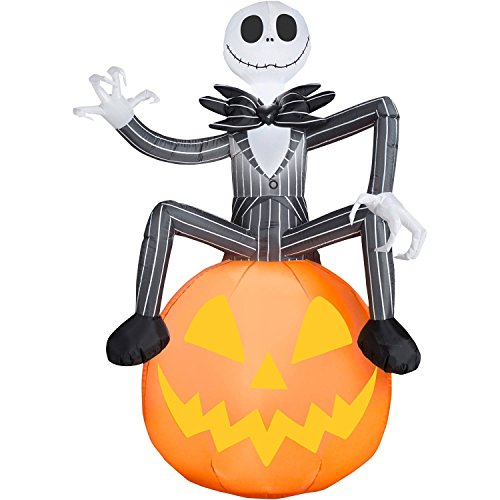 6 Ft Jack Skellington Pumpkin Inflatable Decorations - Nightmare Before Christmas (Halloween Blow Up)