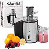 Professional Juicer - 2-Speed 700 Watt Electric Centrifugal Juice Extractor By Kuissential - Stainless Steel