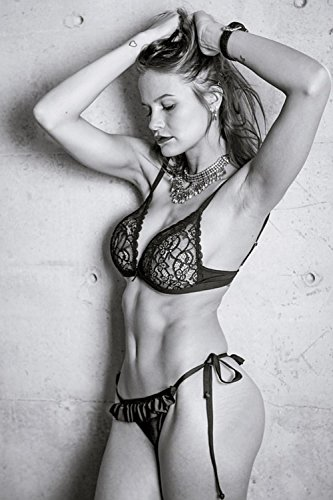 LAMINATED 24x36 inches POSTER: Model Fitness Fit Young Body Sport Training Lifestyle Athlete Workout Healthy People Female Person Gym Girl Woman Muscular Fitness Model Strong Strength Sexy Slim
