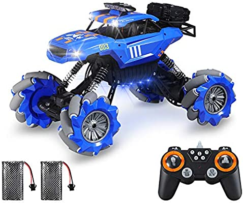 Rc Cars Stunt Truck Theefun 1 12 360 Rotation Drift Remote Control Car All Terrain Climb Rc Crawler Off Road Monster Truck With Lights Music For Boys And Adults Amazon Com Au Toys