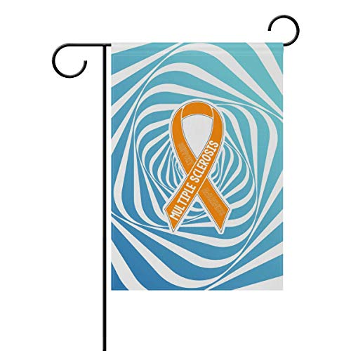 FannyMT House Garden Flag Support MS Awareness- Decoration Double Sided Flag, 28