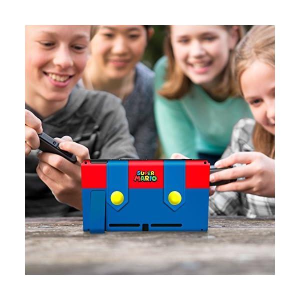 Controller Gear Nintendo Switch Skin & Screen Protector Set - Super Mario - Mario's Outfit - Nintendo Switch 9