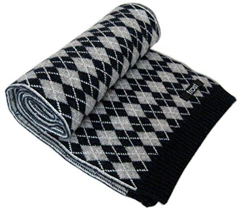 Argyle Winter Hat - Frost Wool & Cashmere Scarf Classic Argyle Pattern Warm Winter Scarf Naybe Blue