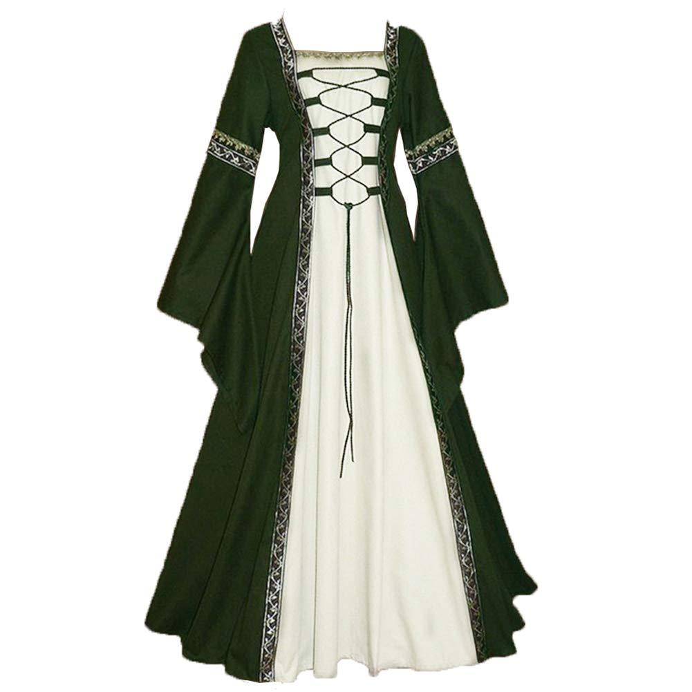 Vestido Largo Vintage para Mujer Medieval Renacimiento ...