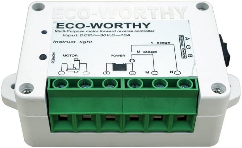 2pcs Actuator mando a distancia y soportes incluidos Paquete de 2 accionamientos lineales ECO WORTHY resistentes Remote Control Kit motor de 1500 N 10 Inch de 12 V