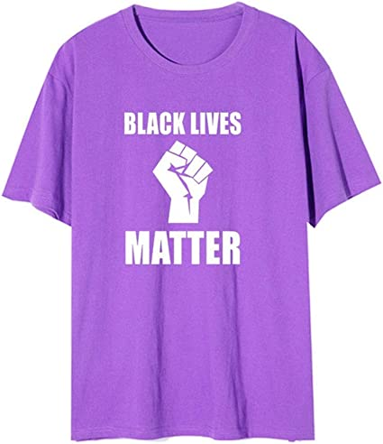 LXHcool Camisa Negra Vidas Materia T Unisex (Color : Purple ...