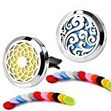 2 Pack Car Fragrance Essential Oil Prume Diffuser — Stainless Steel Air Freshene