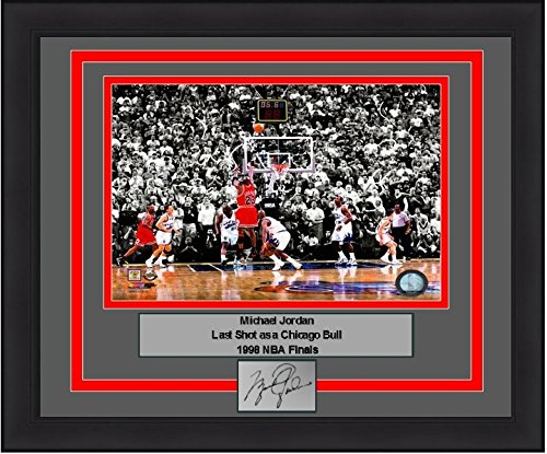 1998 Nba Finals Framed (Chicago Michael Jordan Last Shot, 1998 Finals 8