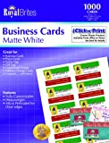 Royal Brites Matte Business Cards, White, 2 x 3.5 Inches, Pack of 1000  (28992), Office Central