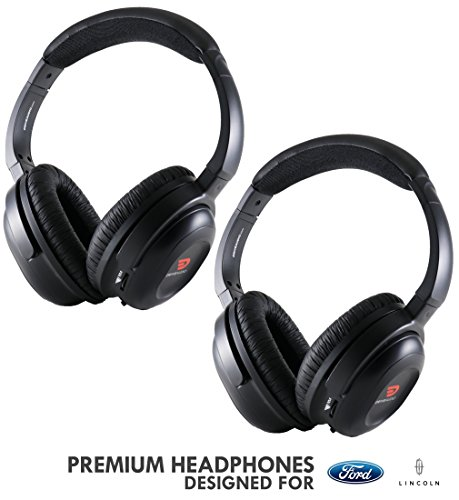 Headphones for Ford, Lincoln & Mazda (2 Pack) by DriveAudio for Explorer, Expedition, Escape, Edge, Excursion, F-150, F-250, F-350, Flex, Freestar, Freestyle, Taurus, MKC MKT MKX Navigator & - Excursion Ford Expedition