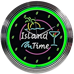 Neonetics Island TIME NEON Clock