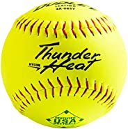 Dudley ASA Thunder Hycon Leather Slowpitch Softball - 12 Pack, 4A065YA, Yellow