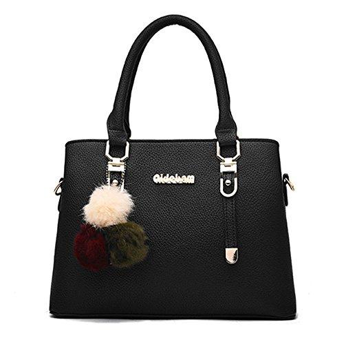 (JVPS17-B) 2018 nuevas mujeres bolso lindo bolso de la PU bolso impermeable bolsa de hombro de la moda europea y americana todos los 6 colores populares bolsa de viaje popular celebridad Rosa