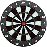 Dartboard Playing Set,CAMTOA 16Inch Dart Board Set/Soft Tip Darts Set/Dart Set with 6 Soft Tip Darts,Great for Children & Adults Leisure Sport Office & Family Time,Protecting Your Wall,2 Installations
