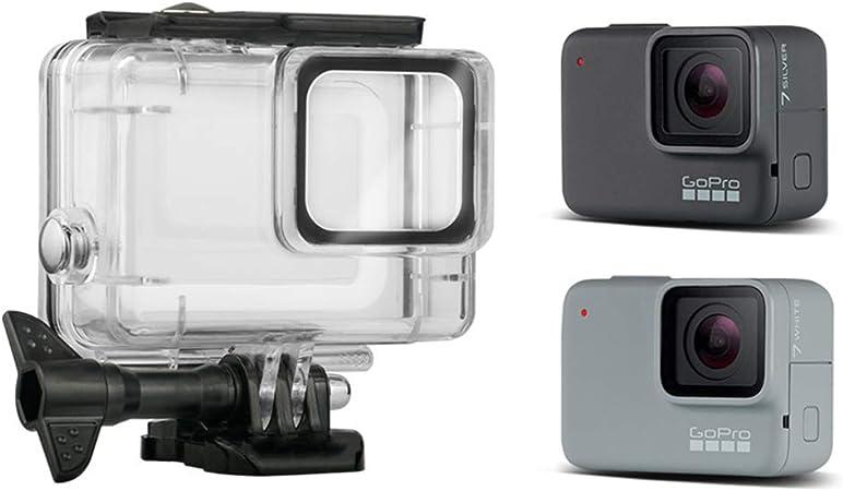 Linghuang Carcasa Impermeable para GoPro Hero 7 Silver/White, la Funda Protectora Incluye Soporte y Tornillo para la cámara de acción (Incompatible ...