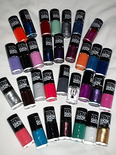 Lot of 10 Maybelline Color Show Finger Nail Polish No Repeat Colors Fast DRY Fingernail Polish (Nail Polish Maybelline Color Show compare prices)