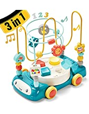 hahaland Musical Bead Maze Car Baby Toys 12-18 Months Development, Educational Roller Coaster Toddler Toys for 1 2 3 Year Old Boys Girls, Montessori Toys for 1 2 3 Year Old Boy Girl Gifts for 12 Month+