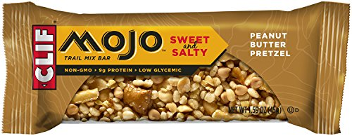 CLIF MOJO - Trail Mix Bar - Peanut Butter Pretzel - (1.6 Ounce Snack Bar, 12 Count)