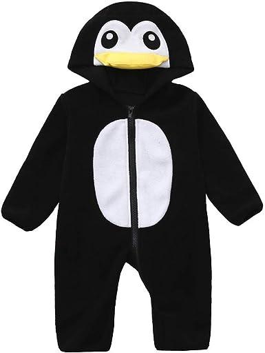 Fashion Trendy Newborn Infant Toddler Baby Boy Bird Print Hooded Romper Jumpsuit