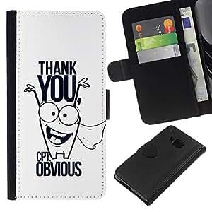 All Phone Most Case / Oferta Especial Cáscara Funda de cuero Monedero Cubierta de proteccion Caso / Wallet Case for HTC One M7 // Funny Comedy