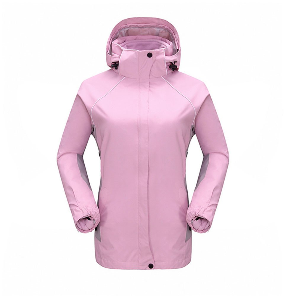 Women's 3 in 1 Pink Windproof Softshell Jacket Winter Warm Sportswear