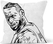 NBA Star James Lebron Pillowcase Cushion Cover Throw Pillow Cover Home Bedroom Decorative Pillow 18x18inch 45x