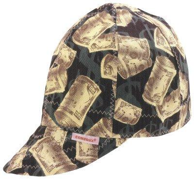 """Comeaux Caps 118-2000R-7-1/4 Deep Round Crown Caps, 7 1/4"""", Assorted Prints"""