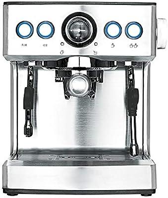 Máquina de café Espresso Comercial Sistema Crema Capuchino Cafetera con vaporizador de Leche Frother 19 Bar Pump Latte y Moka Calentador Taza Caliente Acero Inoxidable 1050w 2.1l Tanque de Agua café: Amazon.es: