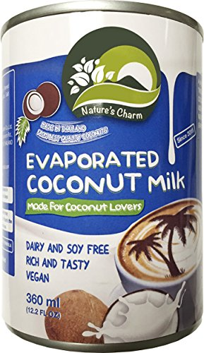 Nature's Charm Evaporated Coconut Milk, 12.2 Fluid Ounce (Pack of 12)