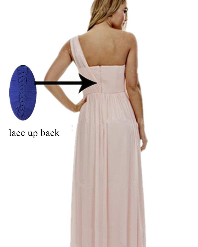 cc171416cbd ... Bridesmaid Dresses for Women Long One Shoulder Asymmetric Chiffon Prom  Evening Gown Coral 10. ; 